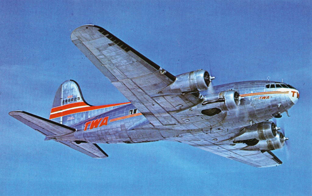 transcontinental-western-air-boeing-stratoliner-airplane