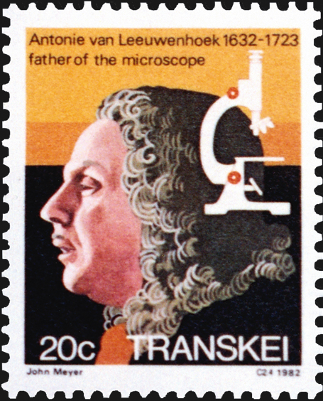 transkei-anton-von-leeuwenhoek-microscope-stamp-1982