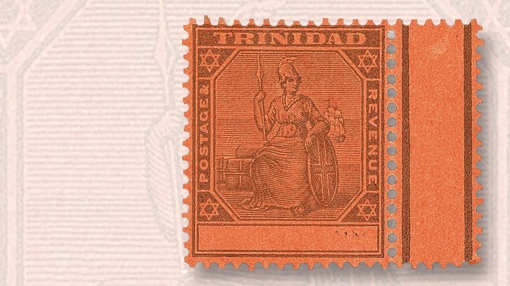 trinidad-one-penny-black-on-red-type-ii-stamp