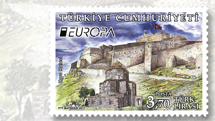turkish-stamp-kars-castle