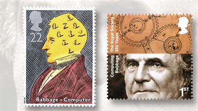 two-british-stamps-depicting-charles-babbage