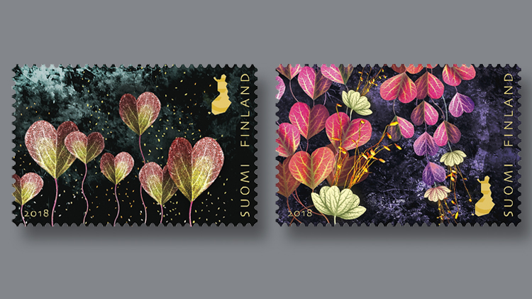 two-finland-finnish-light-of-friendship-stamps