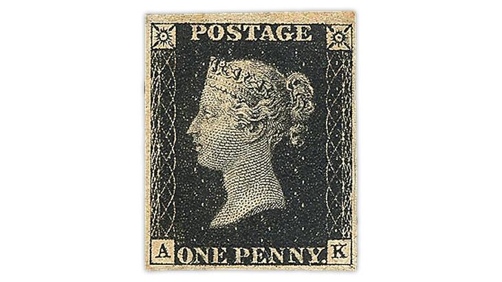 U.S. Stamp Notes  Penny Black stamp