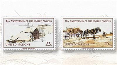 united-nations-1985-andrew-wyeth-stamps