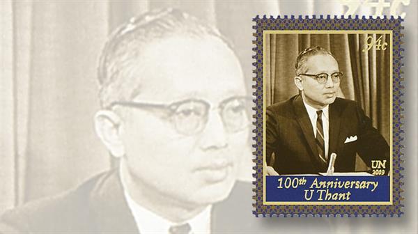 united-nations-2009-u-thant-birth-anniversary-stamp