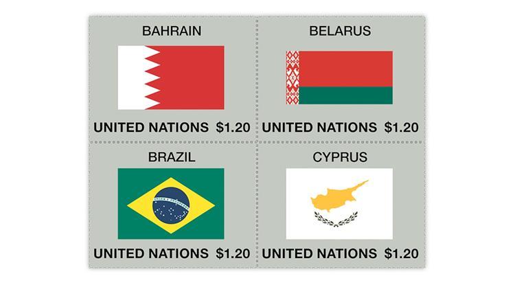 united-nations-2020-bahrain-belarus-brazil-cyprus-flag-stamps