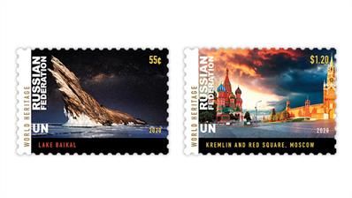 united-nations-2020-lake-baikal-moscow-kremlin-red-square-world-heritage-stamps
