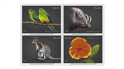 united-nations-2021-endangered-species-stamps-vienna-austria