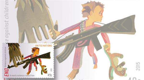 united-nations-end-violence-against-children-stamps