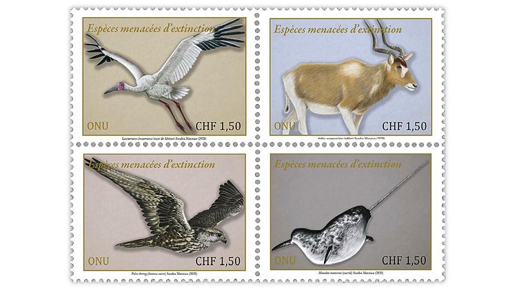 united-nations-geneva-switzerland-2020-endangered-species-stamps
