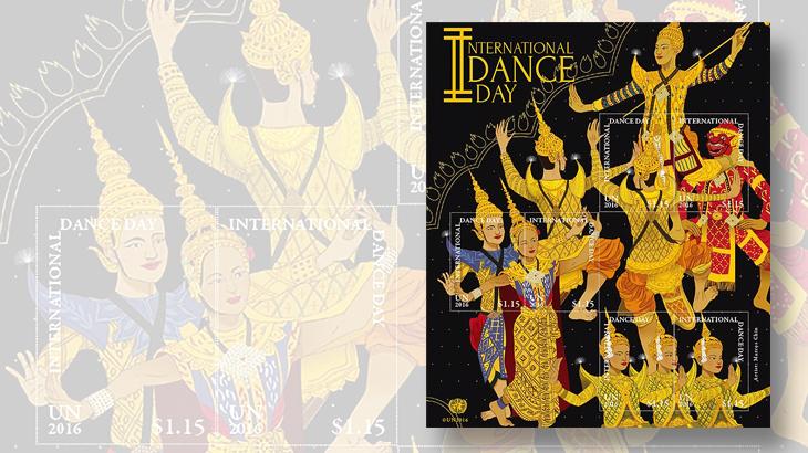 united-nations-international-dance-day-stamps-masked-dancer