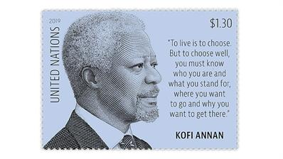 United Nations $1.30 Kofi Annan stamp