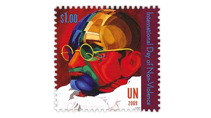 united-nations-mahatma-gandhi-140-birth-anniversary-stamp