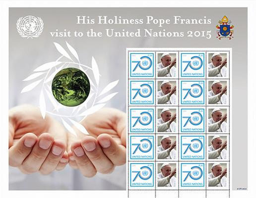 united-nations-pope-visit-stamps
