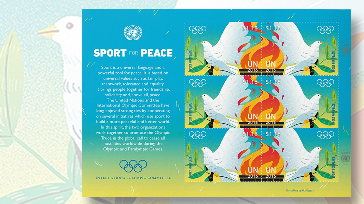 united-nations-sport-for-peace-panes-of-six