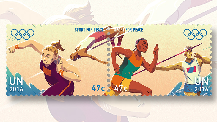 united-nations-sport-for-peace-stamps