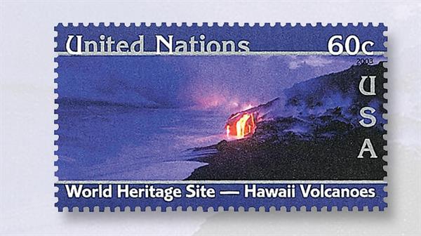 united-nations-stamp-hawaii-volcanoes-national-park