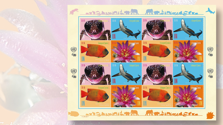 united-nations-three-pane-endangered-species-stamps