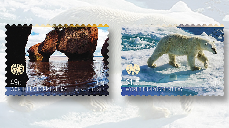 united-nations-world-environment-day-stamps-polar-bear-baffin-island