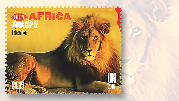 united-nations-world-wildlife-conference-lion-stamp