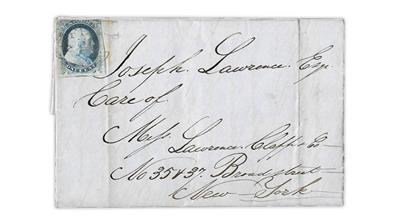 united-states-1851-franklin-type-one-cover