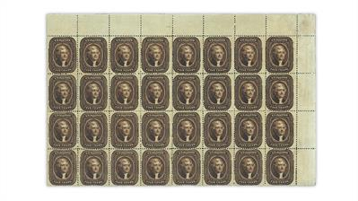 united-states-1861-thomas-jefferson-stamp-block-largest-recorded-multiple