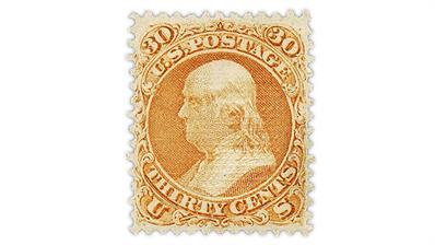 united-states-1868-benjamin-franklin-stamp-f-grill