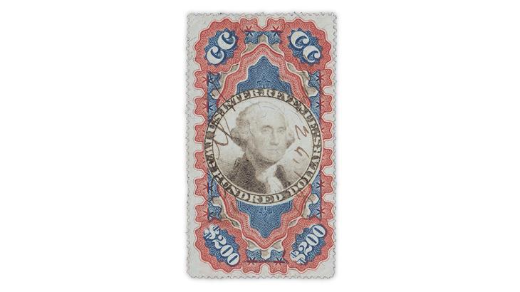 united-states-1871-george-washington-small-persian-rug-revenue-stamp