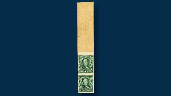 united-states-1906-imperforate-one-franklin-vertical-coil-stamp