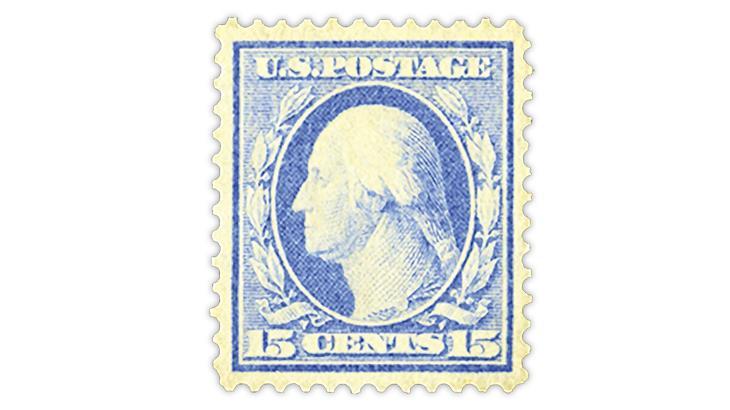 united-states-1909-ultramarine-george-washington-stamp-bluish-paper