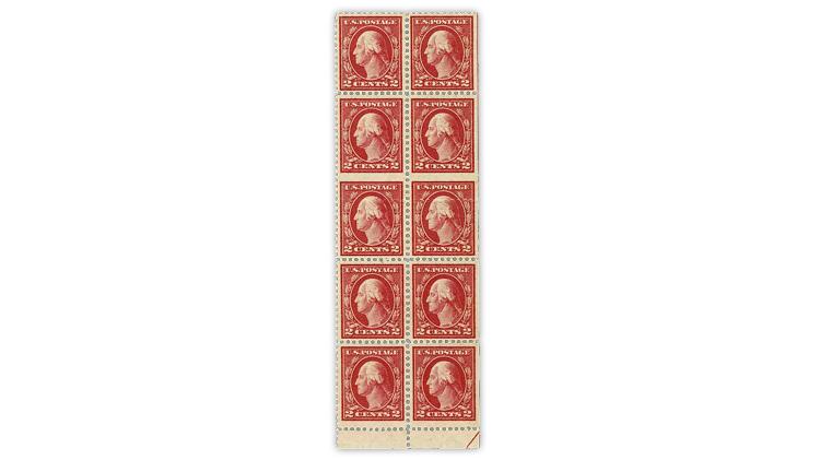 united-states-1917-george-washington-type-one-block