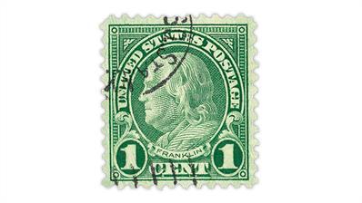united-states-1923-benjamin-franklin-coil-waste-sheet-stamp-scott-594
