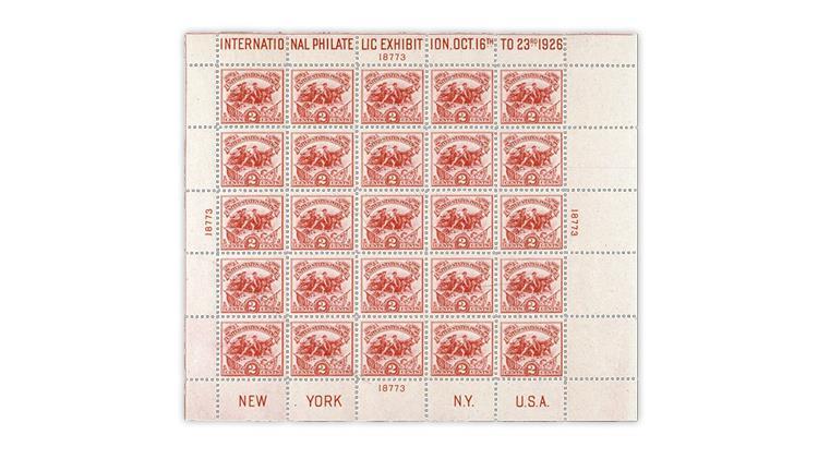 united-states-1926-battle-white-plains-souvenir-sheet