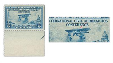 united-states-1928-aeronautics-conference-prairie-dog-plate-flaw-stamp
