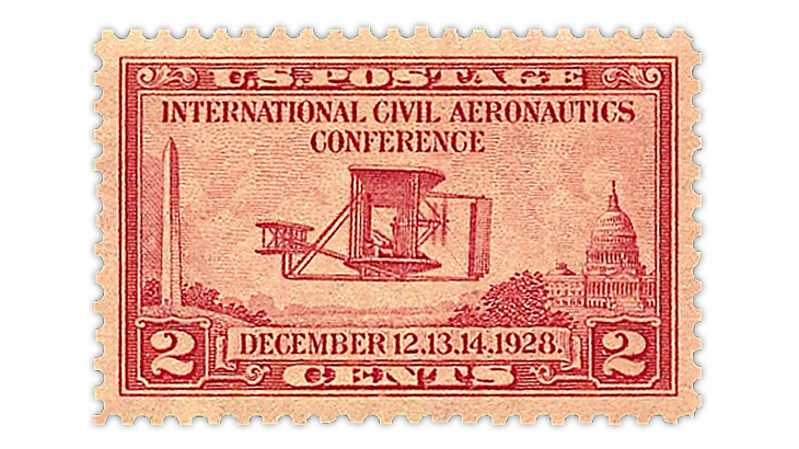 The Wright Brothers at Kitty Hawk honored by its stamp