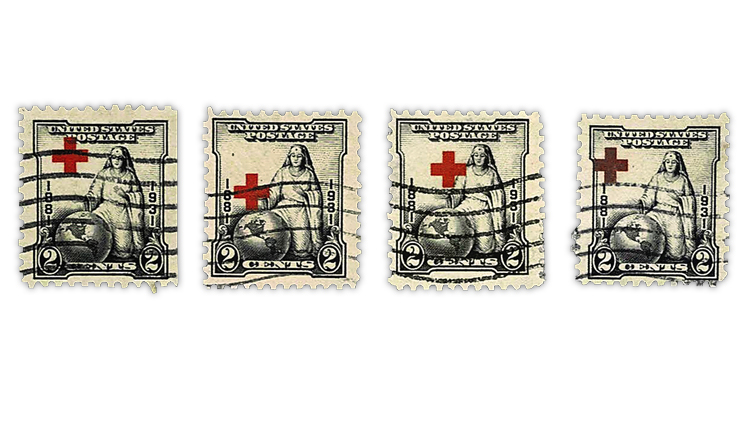 united-states-1931-misregistered-red-cross-stamps