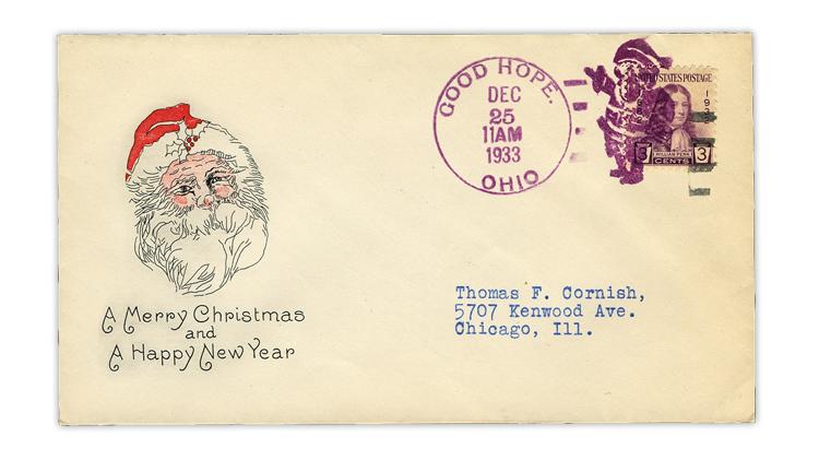 united-states-1933-christmas-santa-good-hope-ohio-fancy-cancel