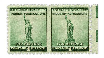 united-states-1940-national-defense-imperf-between-pair