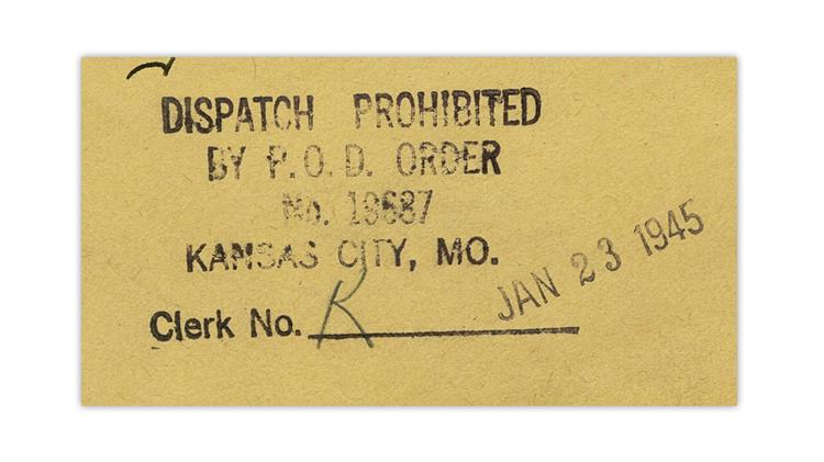 united-states-1945-cover-dispatch-prohibited-handstamp-close-up