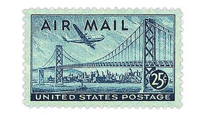united-states-1947-oakland-bay-bridge-boeing-stratocruiser-airmail-stamp