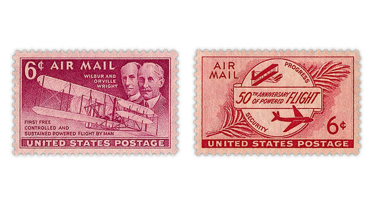 united-states-1949-1953-wright-brothers-airmail-stamps