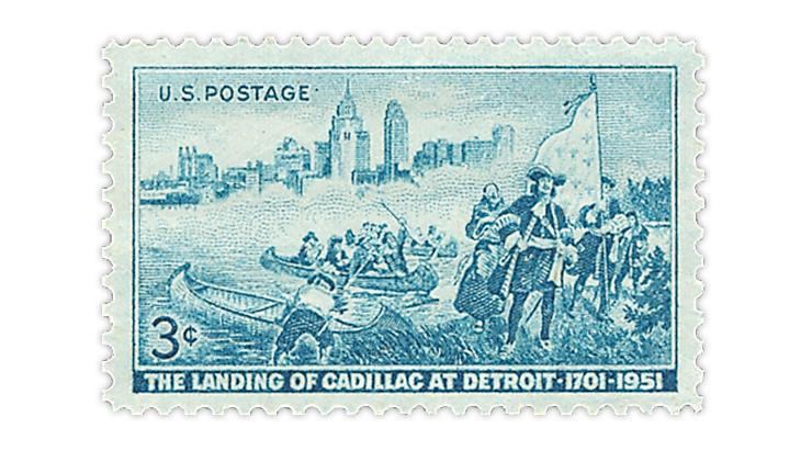 united-states-1951-detroit-250th-anniversary-stamp