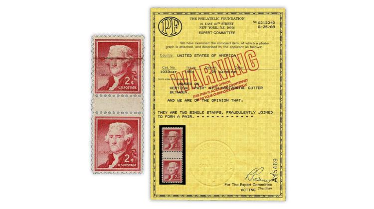 united-states-1954-thomas-jefferson-fake-pair