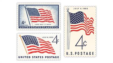 united-states-1957-1959-1960-flag-stamps