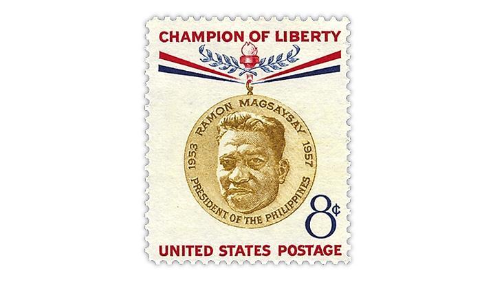 united-states-1957-ramon-magsaysay-champion-liberty-stamp