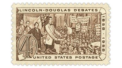 united-states-1958-lincoln-douglas-debates-stamp