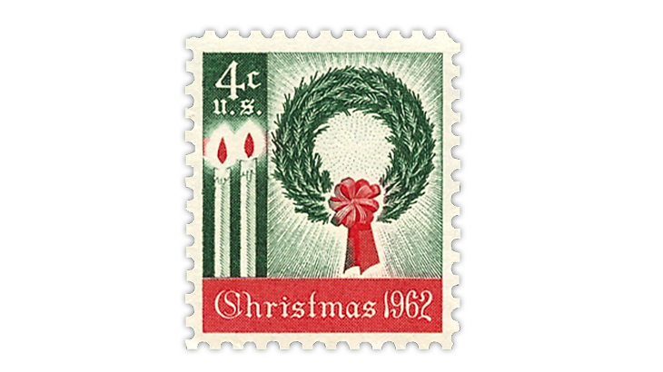 united-states-1962-christmas-wreath-stamp
