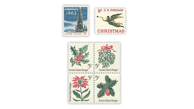 united-states-1963-1964-1965-christmas-stamps
