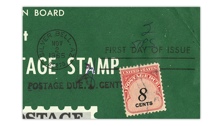 united-states-1965-christmas-stamp-new-issue-announcement-close-up