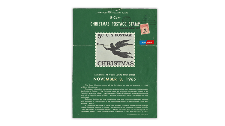 united-states-1965-christmas-stamp-new-issue-announcement